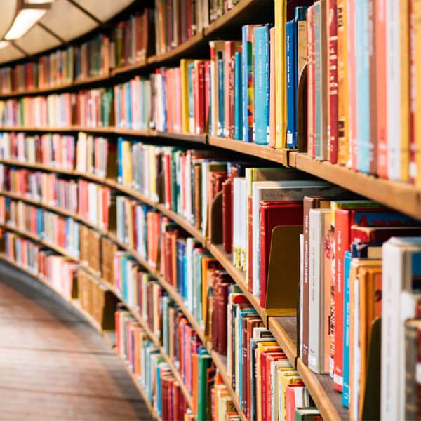 Biblioteca con libros. Foto: Susan Yin en Unsplash